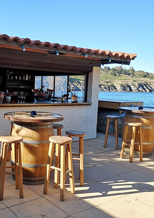 Au sole mio, tapas et plats de poisson à déguster au bord de la plage de paulilles.